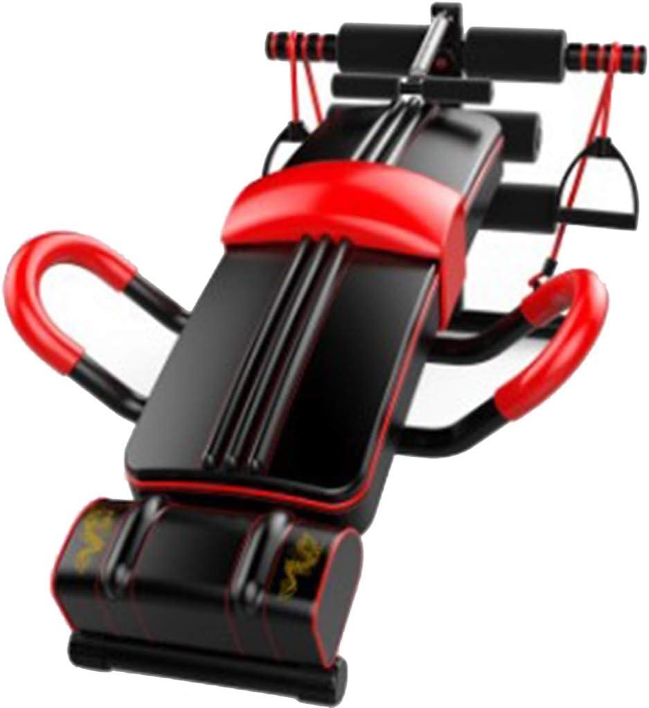 Priority Culture Máquinas de Espalda Inicio Tabla De Fitness Muscular Masculino Y Femenino Equipo De Ejercicios Abdominales Multifuncionales Ayuda para Hacer Ejercicio con Heces con Mancuernas
