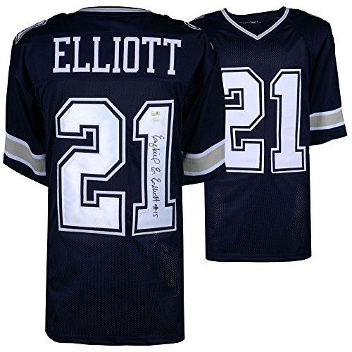 Ezekiel Elliott Dallas Cowboys Autographed Navy Jersey JSA