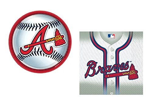 Atlanta Braves Party Supplies Bundle For 18 MLB
