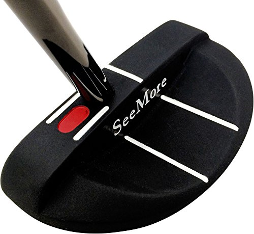 SeeMore SI 3 Mallet Mens Putters Steel-Right Hand-Steel-35 Inches