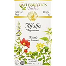 Celebration Herbals Alfalfa Peppermint Tea Organic 24 Tea Bag, 36Gm