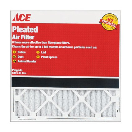 """14"""" X 25"""" X 1"""" Pleated Furnace Air Filter - No. 4044343"""