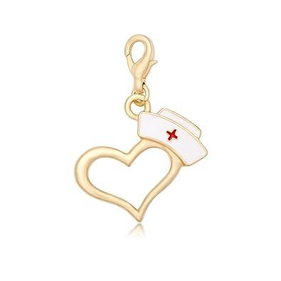 Amazon.com: manzhen esmalte gorro de enfermera colgantes de ...