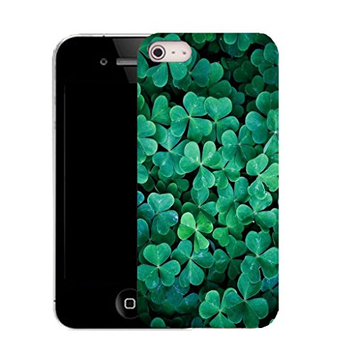 Mobile Case Mate IPhone 4s clip on Silicone Coque couverture case cover Pare-chocs + STYLET - aqua clover pattern (SILICON)