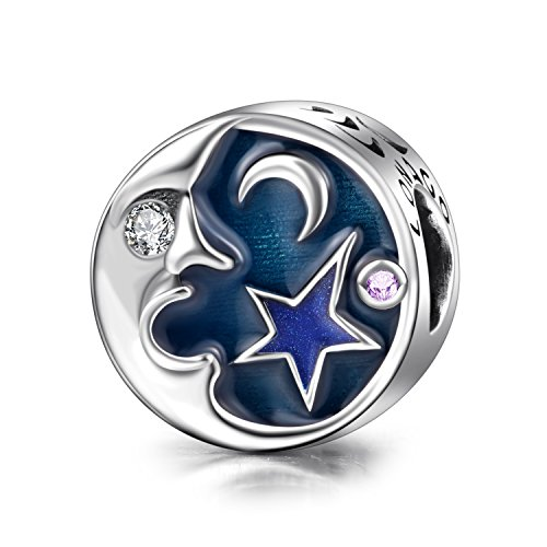 Blue Moon Silver Charm (Sterling Silver Charms