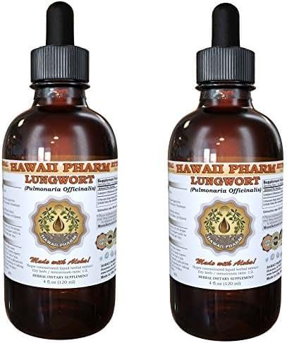 Lungwort Liquid Extract, Organic Lungwort (Pulmonaria officinalis) Tincture Supplement 2x2 oz