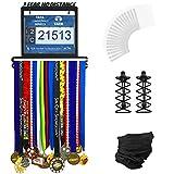 Urban-Active-Sports-Medal-Display--Complete-Bundle-Medal-Holder-Bib-Hanger-for-60-Medals-120-Runner-Race-Bibs-