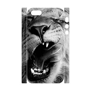 DIY Hard Plastic Case Cover for Iphone 5,5S 3D Phone Case - Cool Tiger HX-MI-013882