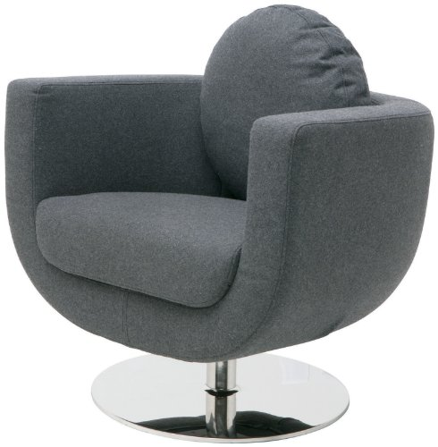 25 in. Wool Upholstered Swivel Lounge Chair price