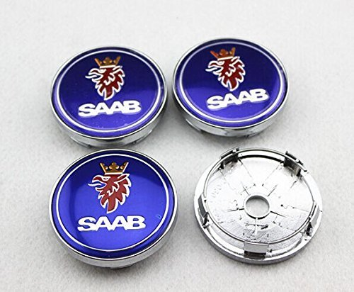 (Tripoint® 4Pcs Alloy Wheel Center Caps Hubcaps full Chrome COVER For Saab (diameter: 60mm))