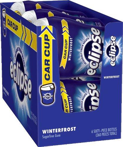 Eclipse Winterfrost Sugarfree Gum, 60 Piece Bottle