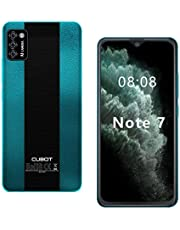 CUBOT Note 7 Smartphone zonder abonnement, 4G, Android 10 Go, 5,5 inch HD-display, 13 MP drievoudige camera, 2 GB/16 GB, 128 GB uitbreidbaar, Daul SIM Triplo Slot mobiele telefoon - Duitse versie (groen)