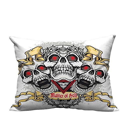 YouXianHome Sofa Waist Cushion Cover gothi Coat rms Skull ws Grunge Vintage Design t Shirts Decorative for Kids Adults(Double-Sided Printing) 11x19.5 inch