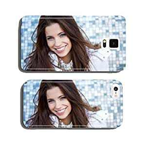 beautiful young woman smiling in winter time cell phone cover case iPhone5