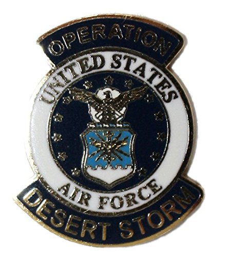 - Ted and Jack - Wear It Proudly Ceramic and Metal Military Lapel Pin (Desert Storm Air Force)