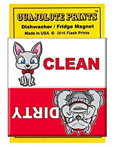 Clean Dirty Dishwasher Magnet - Bulldog Chihuahua Pet -Funny Gift for Dog Owners