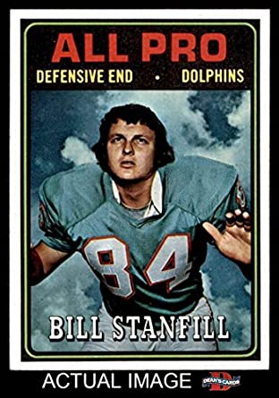 1974 topps 133 all pro bill stanfill miami dolphins football card deans amazoncom stills office space