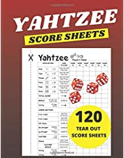 Yahtzee Score Sheets: 120 Yahtzee Tear Out Score Sheets Large (8.5x11 inches)