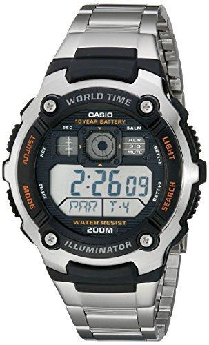 Casio Men's AE2000WD-1AV Resin and Stainless Steel Sport -