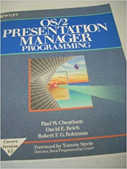 Book OS/2 Presentation Manager Programming