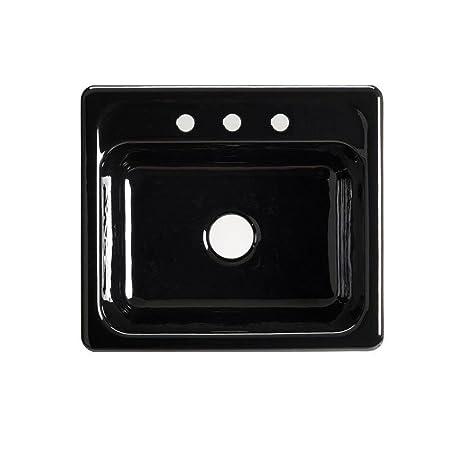 KOHLER K 5964 3 7 Mayfield Self Rimming Kitchen Sink, Black