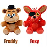 five nights at freddy foxy bear toys plush dolls 2pcs