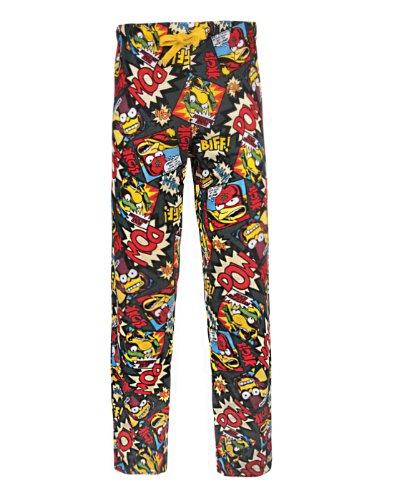 Simpsons Lounge Pants - Official Simpsons Biff Pow Women's Loungepants (XL)