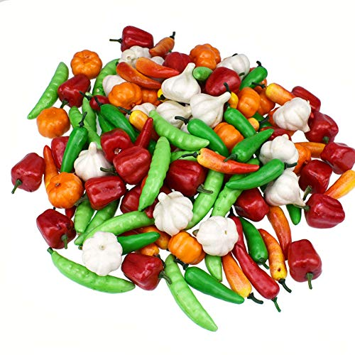 Easy 99 50 Pcs Mini Artificial Vegetables Simulation Fake Vegetables for Home Kitchen Cabinet Decoration Photography Props Cognitive Toys