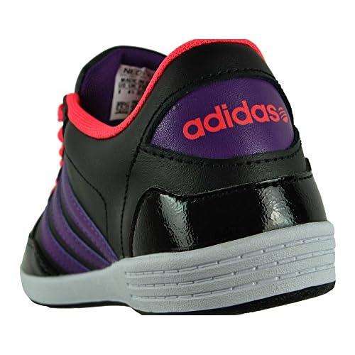 adidas Neo VLNEO HOOPS LO W Zapatillas Sneakers Negro Rosa Purpura para Mujer Delicado vjlshop.top