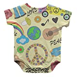 Hippie Love Peace Freedom Infant One Piece Snapsuit Bodysuit 6 Months