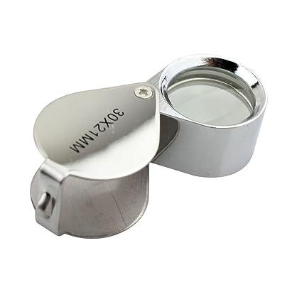f6c5fdfbd438a Amazon.com  iKKEGOL 30 X 21mm Glass Jeweler Loupe Loop Eye Magnifier ...