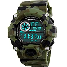 Timsty Digital Sports Boys Watch Waterproof Military Camouflage Great Christmas Gift for Boys & Teens