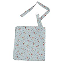 MagiDeal Baby Mum Breastfeeding Nursing Poncho Cover Up Udder Covers Blanket Shawl - Flower Blue