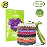 Mosquito Repellent Bracelet - 100% Natural Deet-Free Waterproof Travel Insect Repellent Bands 10 Pack, Safe for Kids, Adults, Indoor and Outdoor