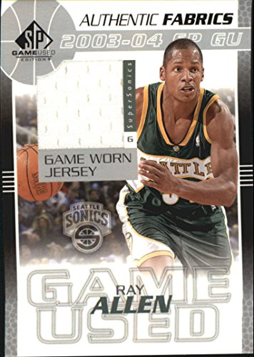 2003-04 SP Game Used Authentic Fabrics #RAJ Ray Allen Jersey - NM-MT Ray Allen Authentic Jersey