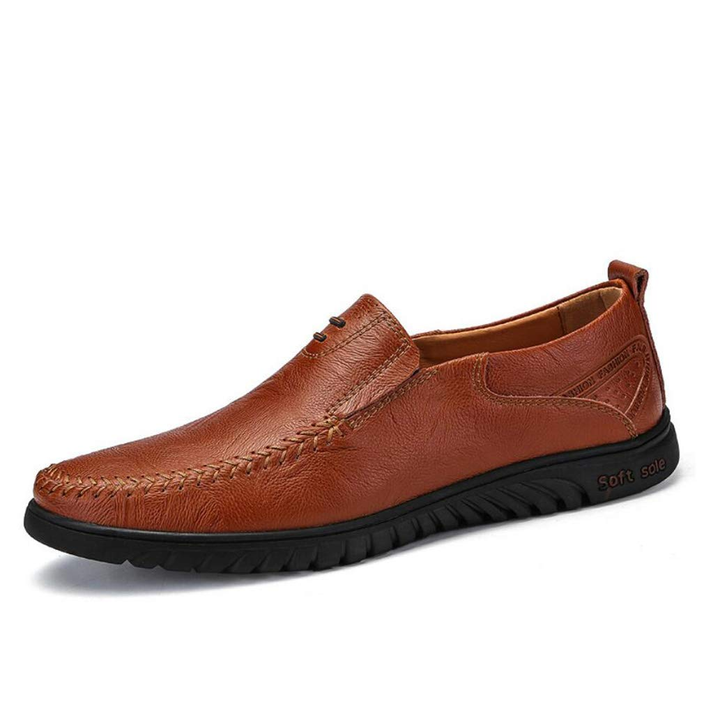 FuweiEncore Herrenschuhe Leder Frühjahr   Herbst Modisch Komfort Loafers & Slip-Ons Driving Flache Schuhe Lazy schuhe Light Sohlen Trend (Farbe   B, Größe   38)