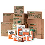 U-Haul Apartment Moving Kit - 21 Boxes, 1 Dish Packing Kit, Foam Pouches, Tape, Mattress Bag, TV Cover, and Other Assorted Packing Supplies