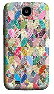 Diamond Quilt Polycarbonate Hard Case Cover for Samsung Galaxy S4/Samsung Galaxy I9500 3D