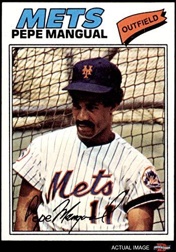 1977 Topps # 552 Pepe Mangual New York Mets (Baseball Card) Dean's Cards 7 - NM Mets