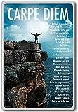 Carpe Diem – motivational inspirational quotes fridge magnet