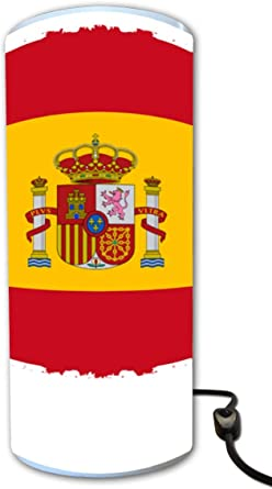 Lámpara cilindro bandera España: Amazon.es: Iluminación