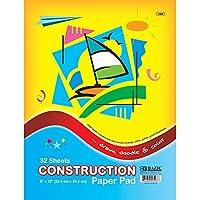 "BAZIC 32 Ct. 9"" X 12"" Construction Paper Pad"