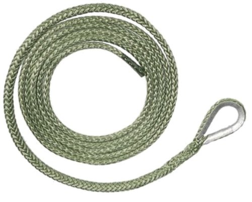 BILLET4X4 U.S. made AMSTEEL BLUE PLOW ROPE 3/16 inch x 12 ft (5, 400 lb strength) (VEHICLE RECOVERY)