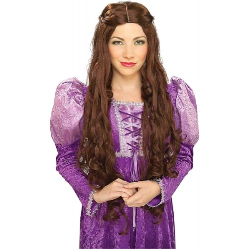 Forum Novelties Women's Medieval Queen Guinevere Wig, Brown, One (Guinevere Medieval Costumes)