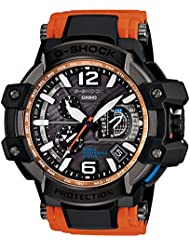 G-Shock GPW-1000-4A Gravity Master Hybrid GPS Stylish Watch- Black/Orange / One Size Fits All