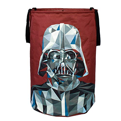 Darth Vader Collapsible Kids Laundry Hamper by Star Wars - Pop Up Portable Childrens Clothes Basket for Closet, Bedroom, Boys & Girls Clothes - Foldable Laundry Bin with Strong Handles & Design