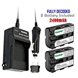 Kastar NP-FM500H Battery (2-Pack) and Charger Kit for Sony DSLR-A100/A200/A300/A350/A450/A500/A550/A560/A580/A700/A850/A900 Alpha SLT A57 A58 A65 A65V A77 A77V A77 II A77M2 A99 A99V CLM-V55 Cameras