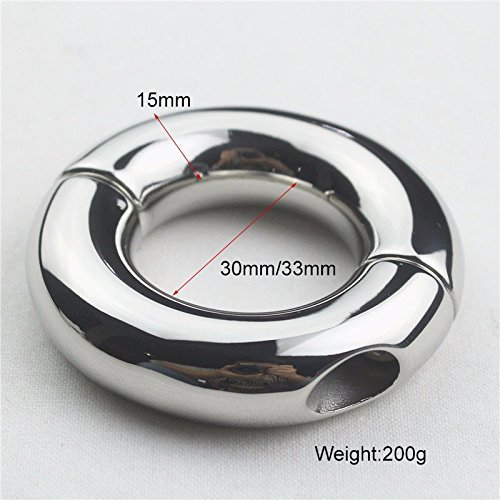 Surgical Steel Ball Hinged Circular Stretcher Weights - For Ear Gauging (33mm)