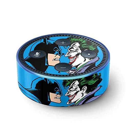 Skinit Decal Audio Skin for Amazon Echo Dot (2nd Gen 2016) - Officially Licensed Warner Bros Batman vs Joker - Blue Background Design