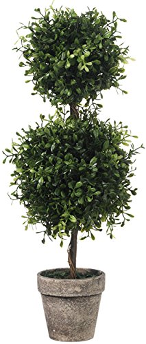 RAZ Imports Boxwood Double Ball Topiary - 19 inch - Boxwood Double Ball